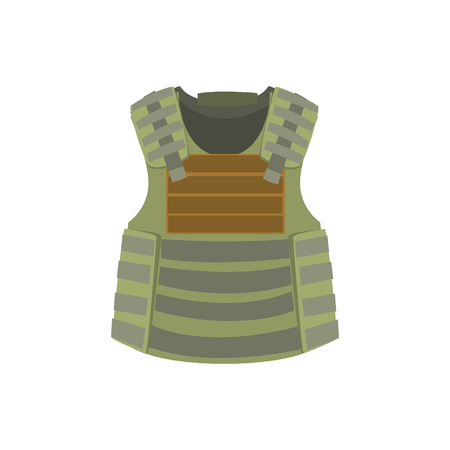 bulletproof vest. Colorful vector Illustration