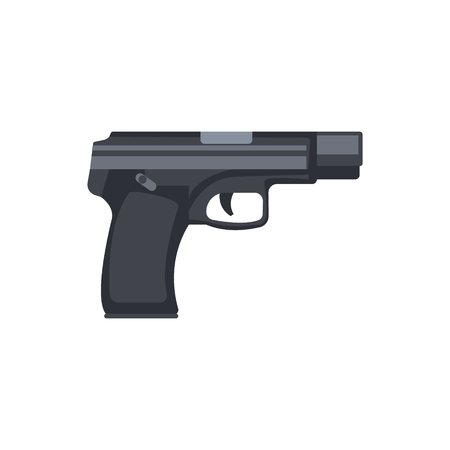 Automatic handgun pistol. Military weapon vector Illustration Illustration