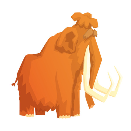 Mammoth, mammal ice age extinct animal, colorful vector illustration