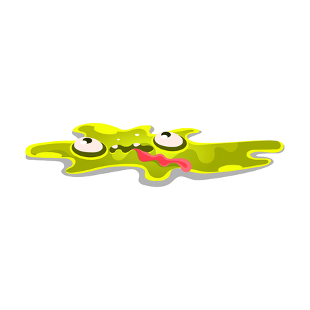 Cute cartoon slick monster. Funny bright jelly character vector Illustration