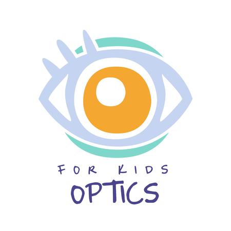 Optics for kids symbol, oculist sign hand drawn illustration