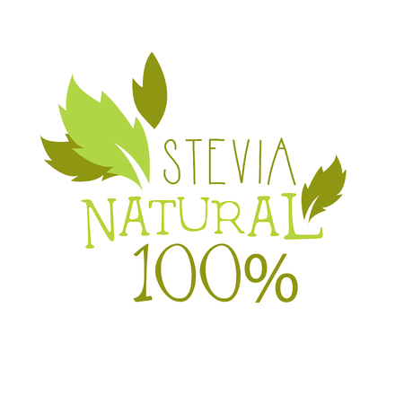 Natural stevia symbol. Healthy product label vector Illustration Illustration