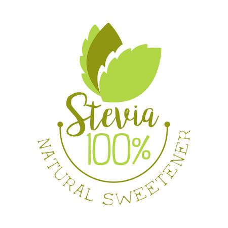Edulcorante natural de stevia Ilustración de vector de etiqueta de producto saludable Foto de archivo - 77893269