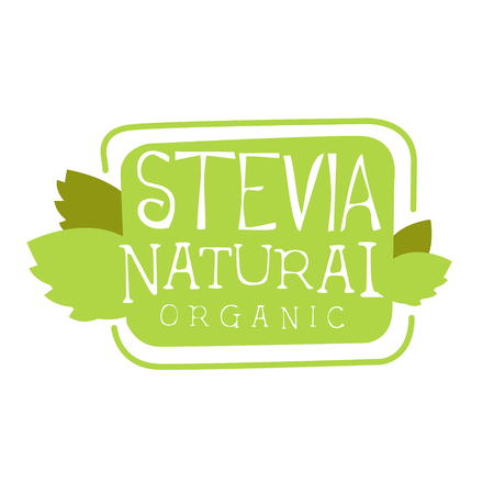 Stevia natural organic symbol. Healthy product label vector Illustration
