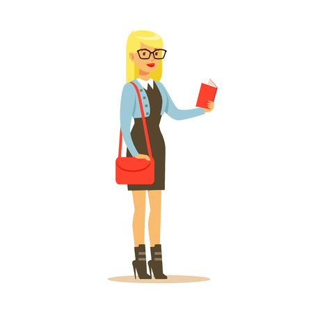Student lifestyle colorful character vector Illustration isolated