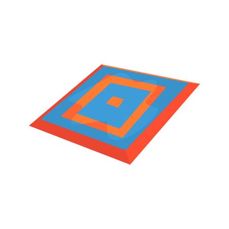 wrestle: Taekwondo carpet, martial arts ring. Colorful cartoon vector Illustration
