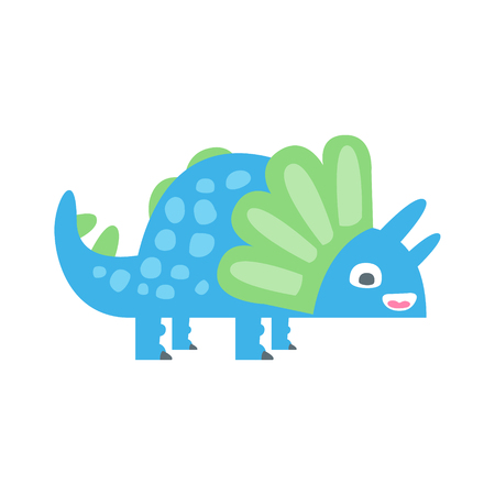 Cute funny colorful dinosaur. Prehistoric animal character colorful vector Illustration isolated on a white background