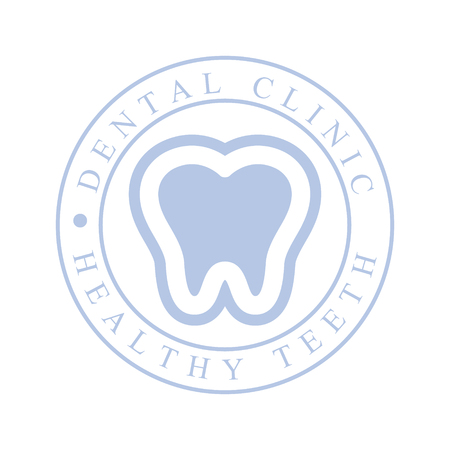 Dental clinic healthy teeth logo symbol. Vector Illustration for stomatology or dentist