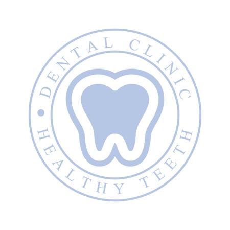 Dental clinic healthy teeth logo symbol. Vector Illustration for stomatology or dentist