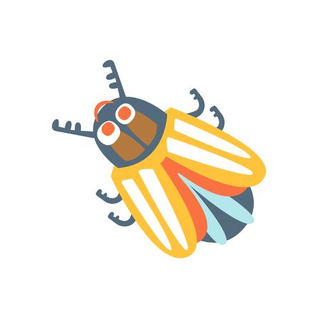 Cartoon colorado potato beetle, colorful character vector Illustration