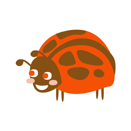 Cute cartoon ladybug, colorful character vector Illustration Ilustrace