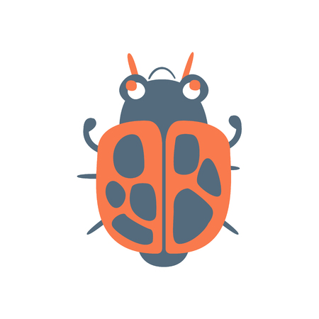 Bed bug soldier cartoon colorful character vector Illustration