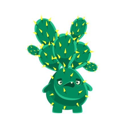 Spiny cactus speaking. Cartoon emotions character vector Illustration isolated on a white background Stock Vector - 78612382