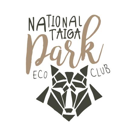 National park, eco club design template, hand drawn vector Illustration Illustration
