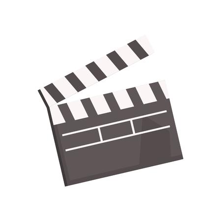 Black open movie clapperboard vector Illustration