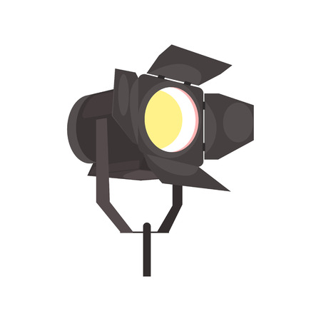 Spotlight with directional light vector Illustration