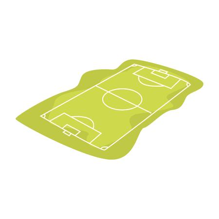 Soccer or football field cartoon vector Illustration