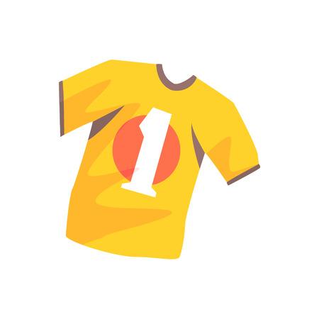model kit: Orange soccer shirt cartoon vector Illustration