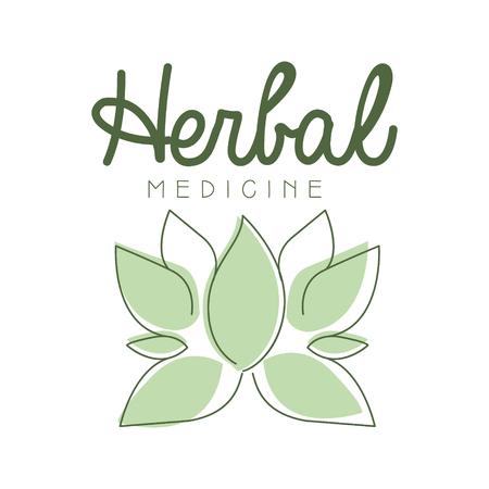 Herbal medicine logo symbol vector Illustration Ilustração