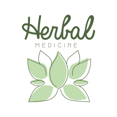 Herbal medicine logo symbol vector Illustration Illustration