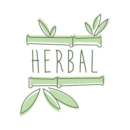 Herbal logo symbol vector Illustration Imagens - 79016553