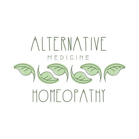 Alternative medicine homeopathi logo symbol vector Illustration Ilustração
