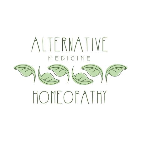 Alternative medicine homeopathi logo symbol vector Illustration Illustration