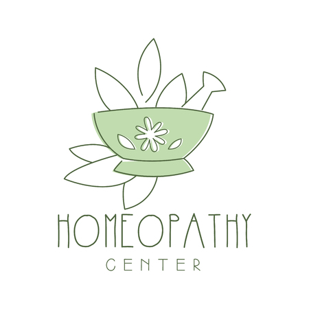 Homeopathi center logo symbol vector Illustration
