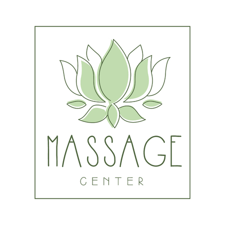 Massage center logo symbol vector Illustration
