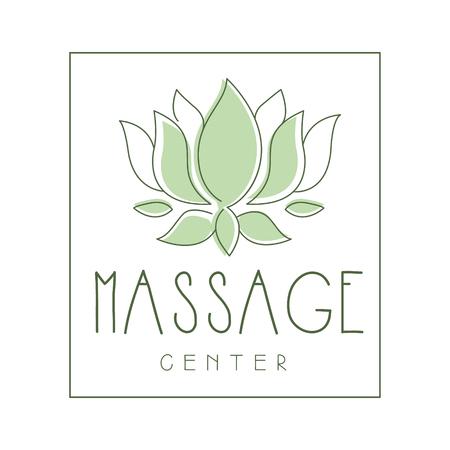 Massage center logo symbol vector Illustration