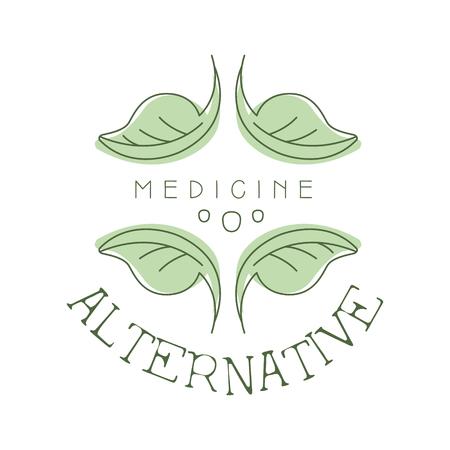 Alternative medicine logo symbol vector Illustration Imagens - 79016568