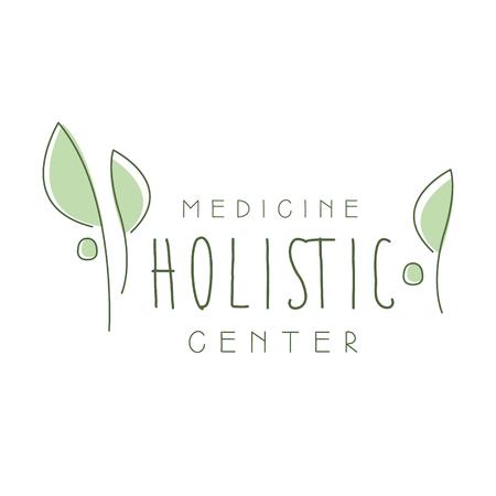Holistic medicine center logo symbol vector Illustration