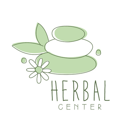 Herbal center logo symbol vector Illustration Ilustração