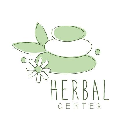 Herbal center logo symbol vector Illustration Illustration