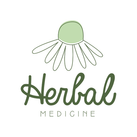 Herbal medicine symbol vector Illustration