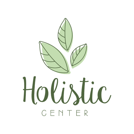 Holistic center logo symbol vector Illustration