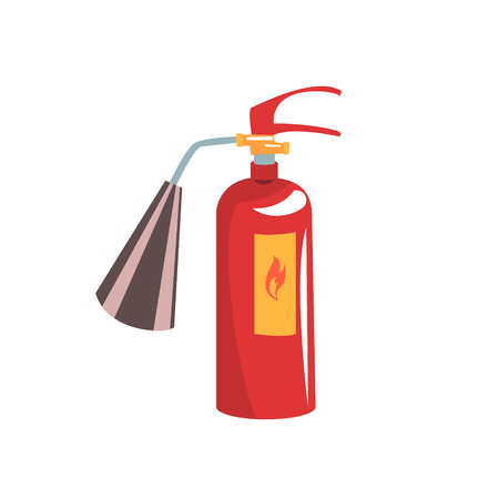 Red fire extinguisher vector Illustration