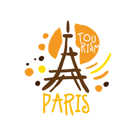 Paris tourism  template hand drawn vector Illustration