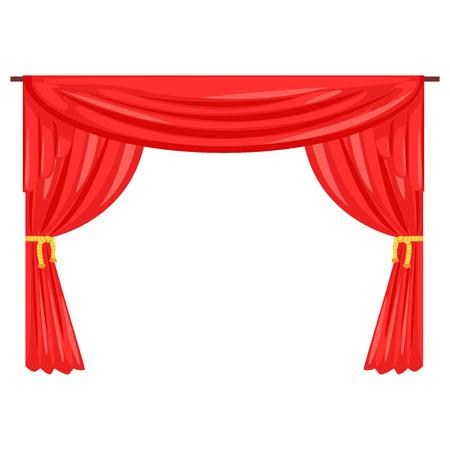 Theater stage drape curtain vector Illustration Illustration