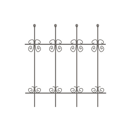 Decorative iron fence for park or garden vector Illustration Illustration
