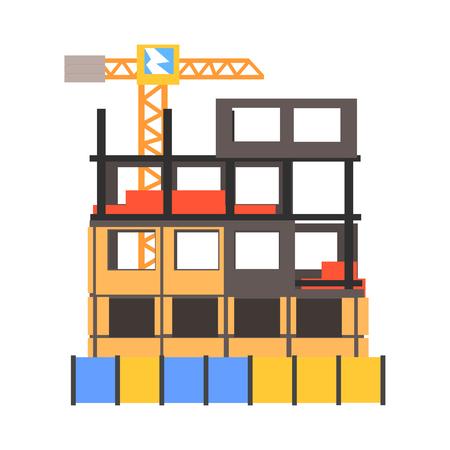 Construction process vector Illustration Illustration