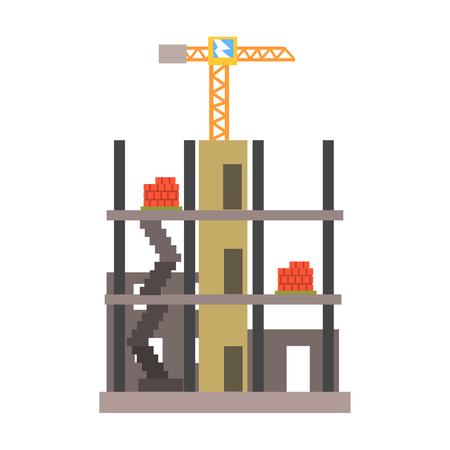 建物建設のベクトル図