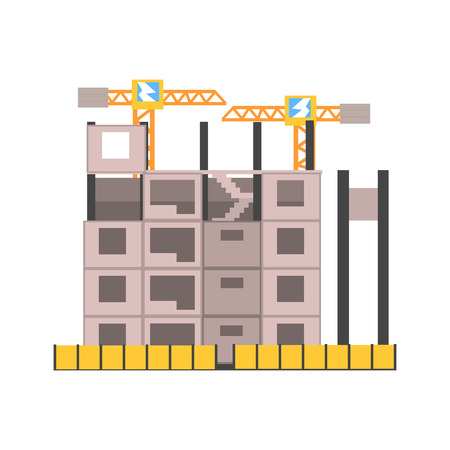 ? oncrete bouwconstructie vector illustratie
