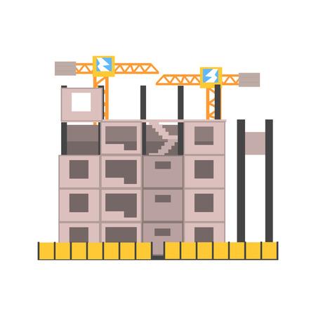 ?oncrete building construction vector Illustration