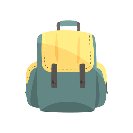 Colorful backpack, classic styled rucksack vector Illustration Illustration