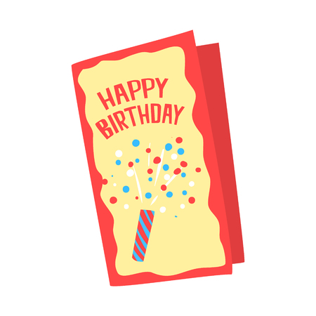 Happy birthday card cartoon vector Illustration