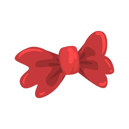 붉은 나비 넥타이, 축하 파티 기호 만화 벡터 일러스트