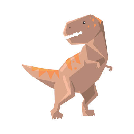 Cartoon allosaurus dinosaur character, Jurassic period animal vector Illustration