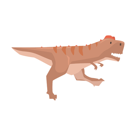 Cartoon tyrannosaurus dinosaur character, Jurassic period animal vector Illustration isolated on a white background