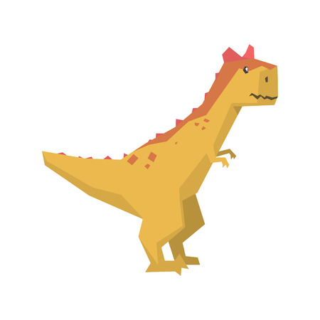 Cartoon dinosaur character, Jurassic period animal vector Illustration isolated on a white background